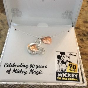 NIB Disney 90 Anniv. Mickey Pendant  Swarovski